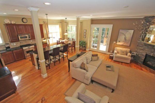 Kitchen Dining Room Ideas Open Floor Plan Best Interior Design Combination With Living Room