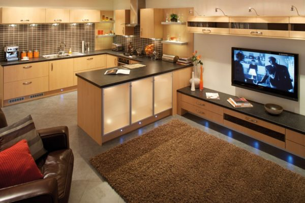 Small Open Plan Kitchen Designs Uk 600x400