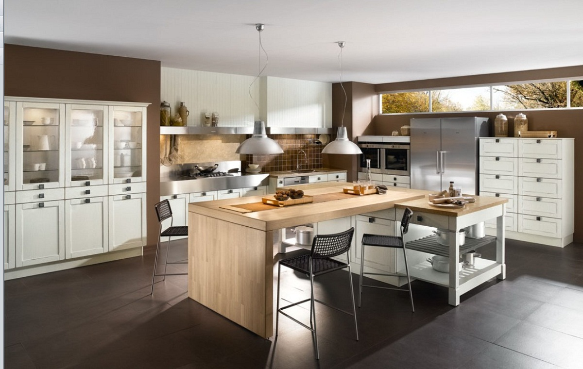 elegant dining room and kitchen in modern apartment decobizz open kitchen to dining room