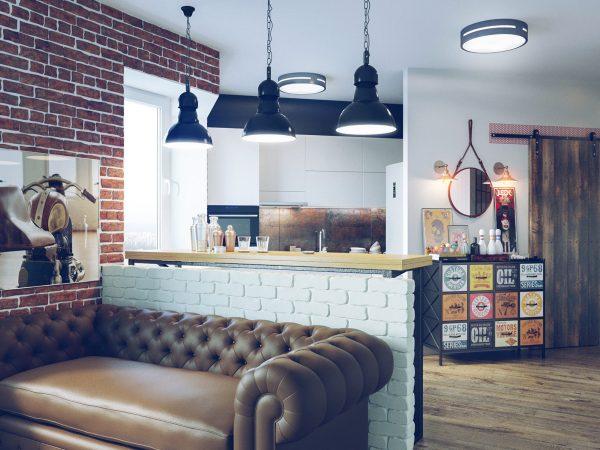 kvartira v stile loft 40 kv m6
