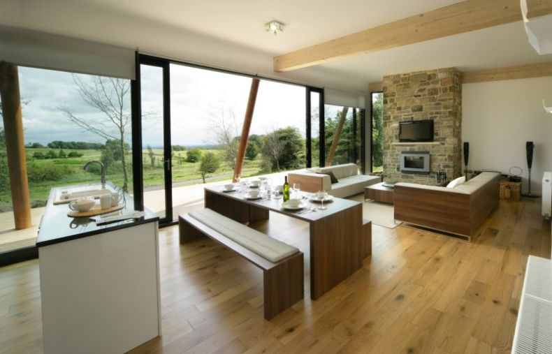 open kitchen and living room designs