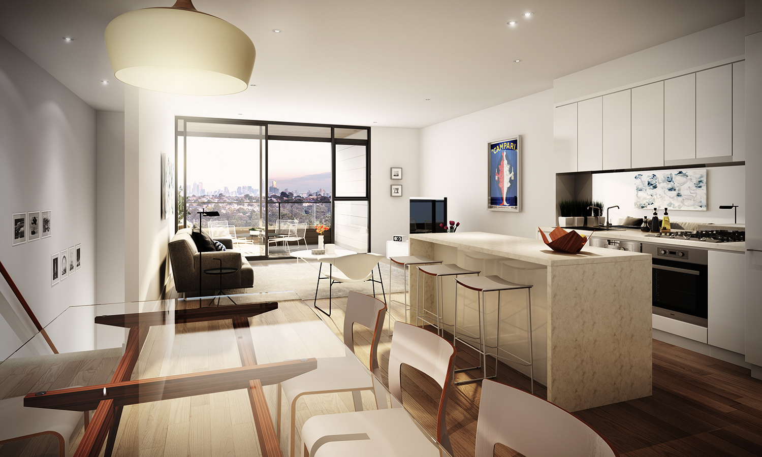 open layout apartment plan