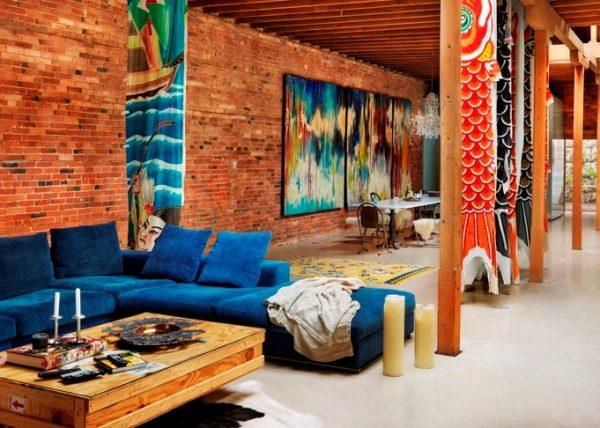 interier v stile loft25