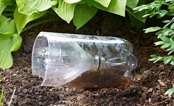 plastikovie butilki v ogorode